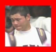 涙の早実・清宮幸太郎選手。仙台育英に7-0で敗退